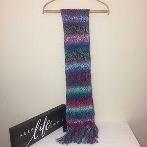 NWT Fraas Knit Multi-color scarf. 100% Acrylic